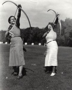 Old photo of Archers in 1937