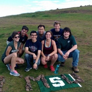 MSU History Majors in England on study abroad, summer 2014