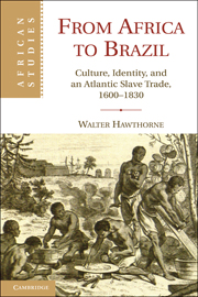 Book Cover From Africa to Brazil: Culture, Identity, and an Atlantic Slave Trade, 1600-1830