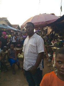 MSU Student James Blackwell in Owerri, Nigeria Market Summer 2015
