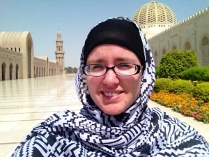 MSU student Jodie Marshall, Sultan Qaboos Grand Mosque, Summer 2015