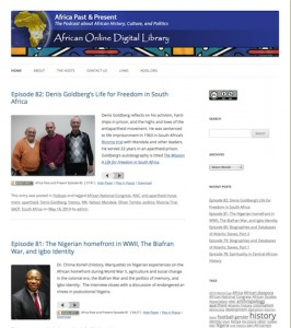 Screenshot of the Africa Online Digital Library Webpage