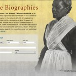 Screenshot of Slave Biographies: The Atlantic Database Network Webpage