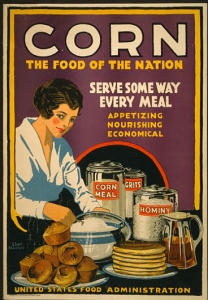 United States Food Administration Public Service Announcement for corn