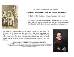 Pigs Feet, Restaurants, and the French Revolution @ East Lansing | Michigan | United States